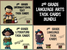 2nd Grade Common Core Language Arts Task Card Bundle
