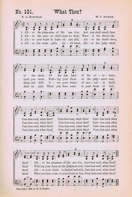 What Then? Antique Hymn Book Page via Knick of Time