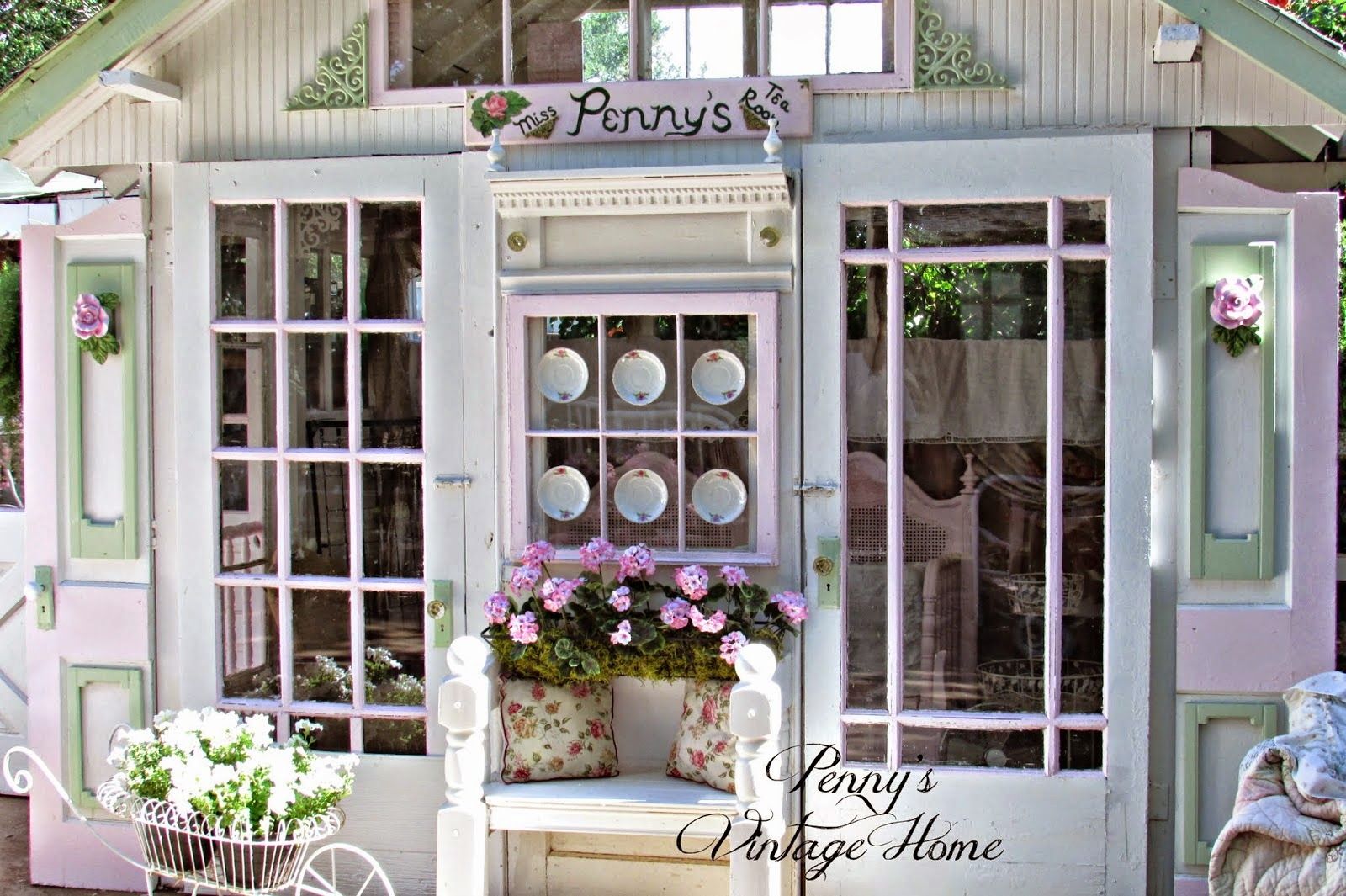 Pennys Treasures shared her Potting Shed Redo featured at One More Time Eventts.com