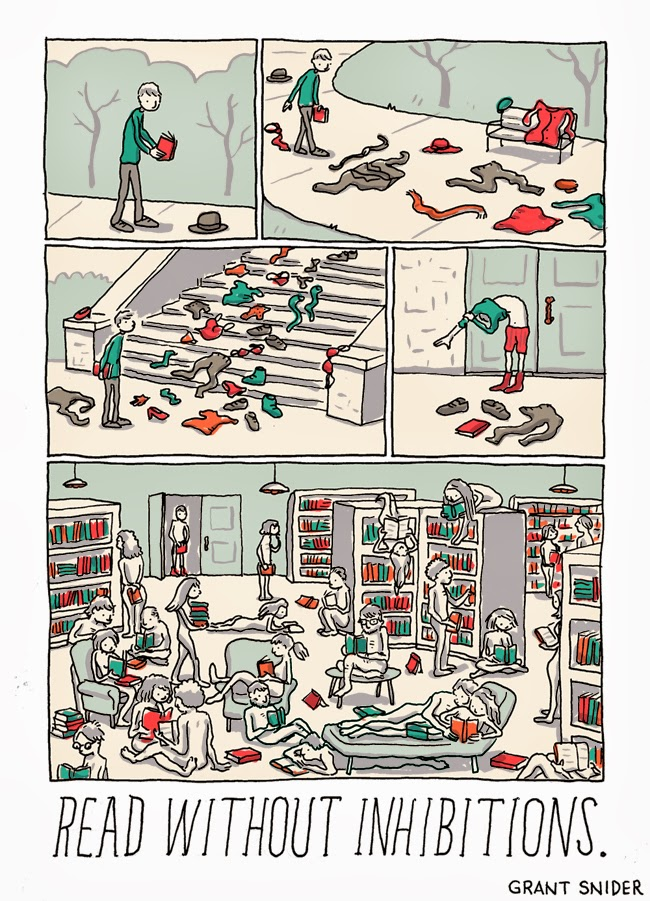 The Joy of Reading #3 from Grant Snider
