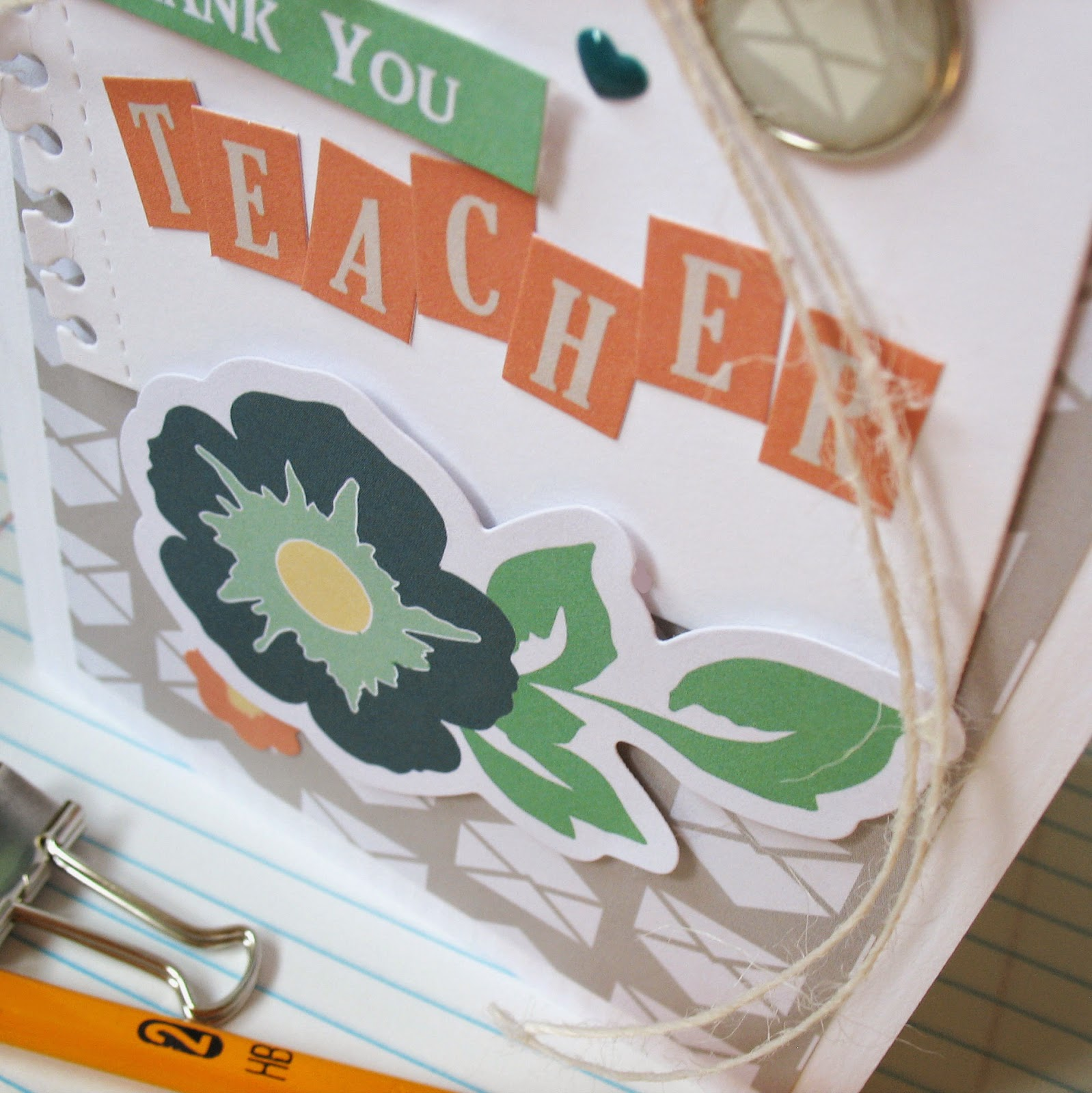 Kathy Martin Chickaniddy Crafts Back to School card close-up2