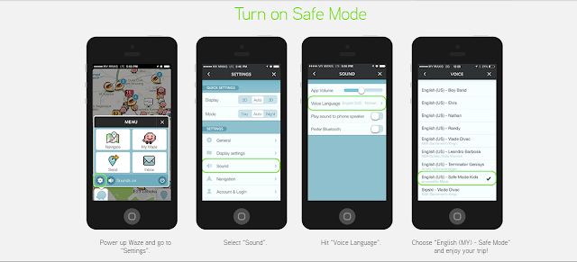 How to download Waze Safe Mode Kids voice pack