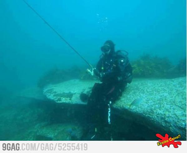 pesca submarina, eeeita coisa