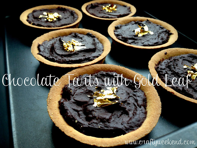 gold leaf recipe ideas, chocolate tart