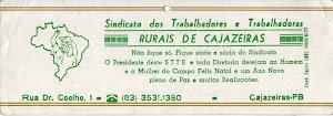 SINDICATOS DOS  TRABALHADORES RURAIS  DE  CAJAZIERAS  SEMPRE ATUANTE