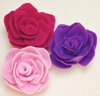 tok de magica artesanato: Como fazer rosa de eva