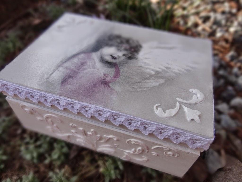 Pamiątka Pierwszej Komunii Świętej, szkatułka decoupage