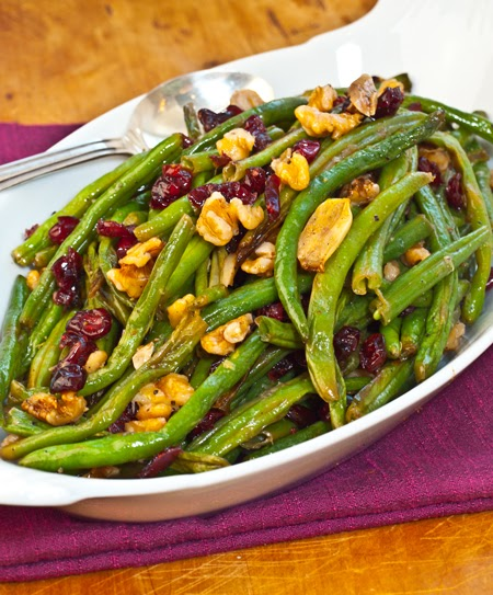 Dr. Maly at MTchiro: Roasted Green Beans with Cranberries and Nuts