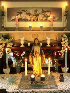 May Altar in Honor of Mary