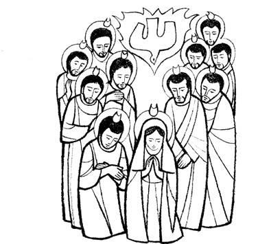 jesus envia o espírito santo sou catequista