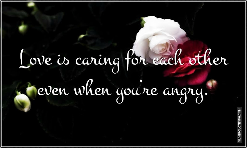 Birthday Quotes For Angry Friend : Love is caring for each other even when you re angry