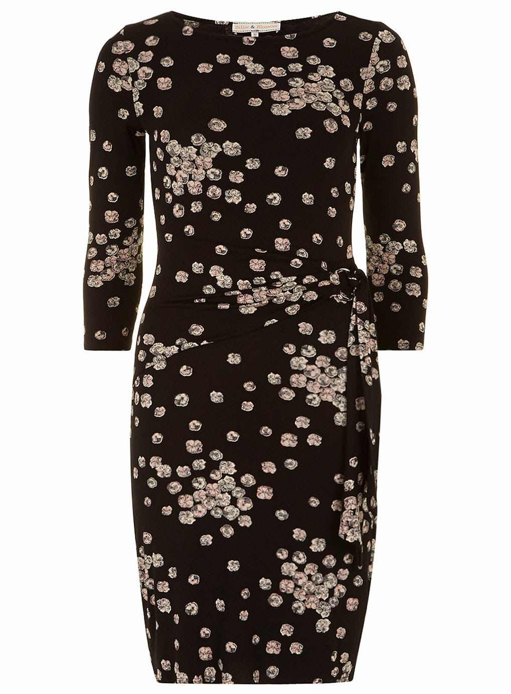 Black with beige pattern Billie and Blossom dress