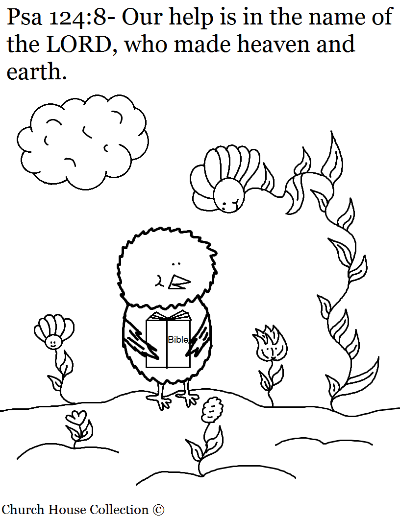 Chick Coloring Page Psalms 124:8