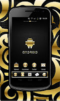 Download Android Gold Droid Pro GO Launcher Ex Themes v1.5 Apk (Free Android Themes)