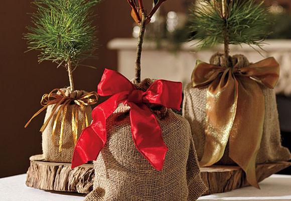 Cosas de palmichula decorar con tela de saco arpillera - Decorar macetas con arpillera ...