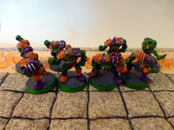 Bloodbowl 2nd ed Underdark Dynamos ork blockers