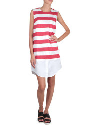 Jacquemus Red and White Striped Dress