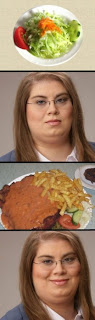 fat girl and salad funny
