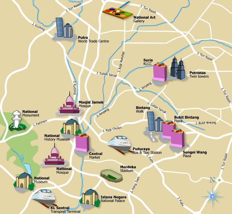 Kuala Lumpur Malaysia Map: The Sojourner: Roaming Kuala Lumpur