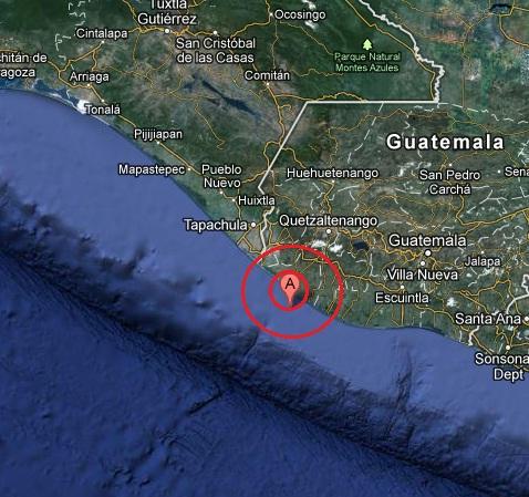 OFFSHORE GUATEMALA earthquake 2012 November 07