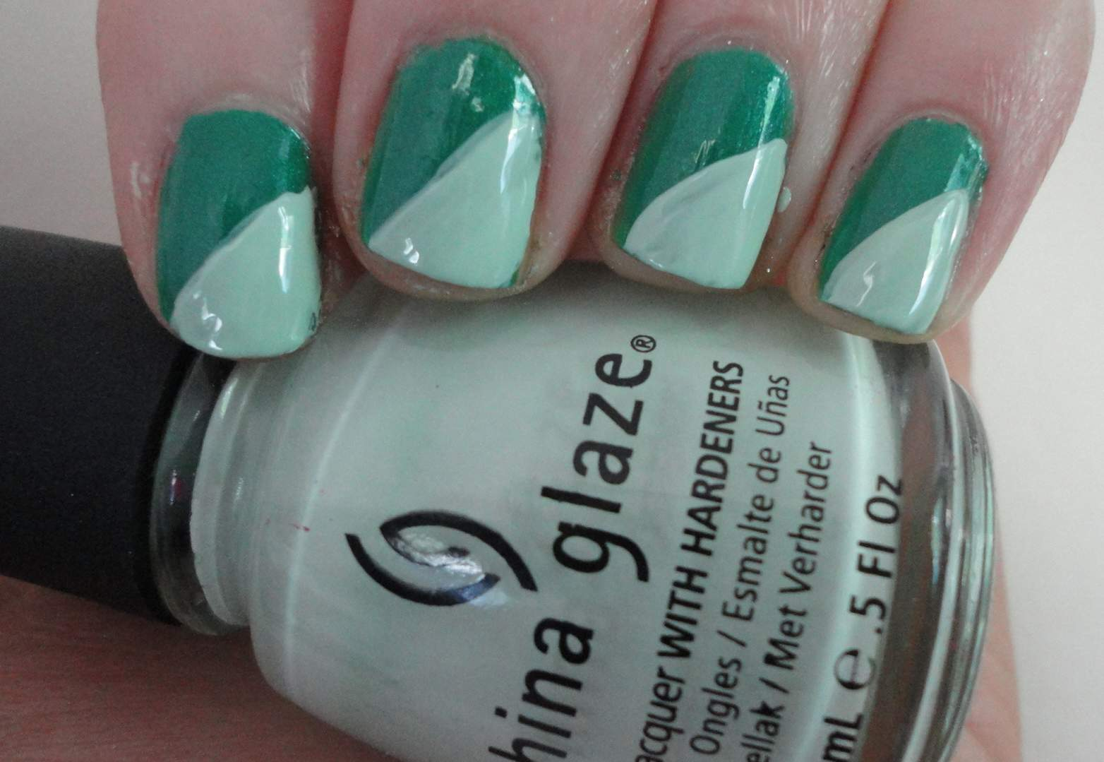 Nails for life criss cross nail art next apply another color and sweep the brush diagonally across the nail apply two coats for this just to make sure the polish doesnt look streaky prinsesfo Gallery