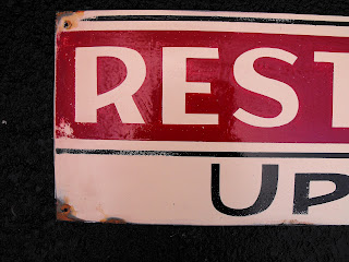 Traditional Signwriters Australia Rest room hand painted sign by Dobell Signs  Hobart Tasmania Australia
