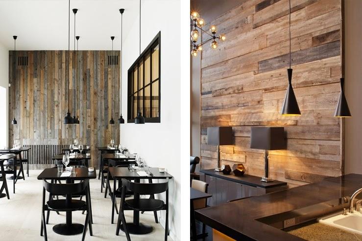 Revestimientos de madera reciclada inspiraci n - Revestimiento de madera para paredes interiores ...