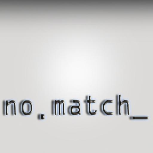 no . match_