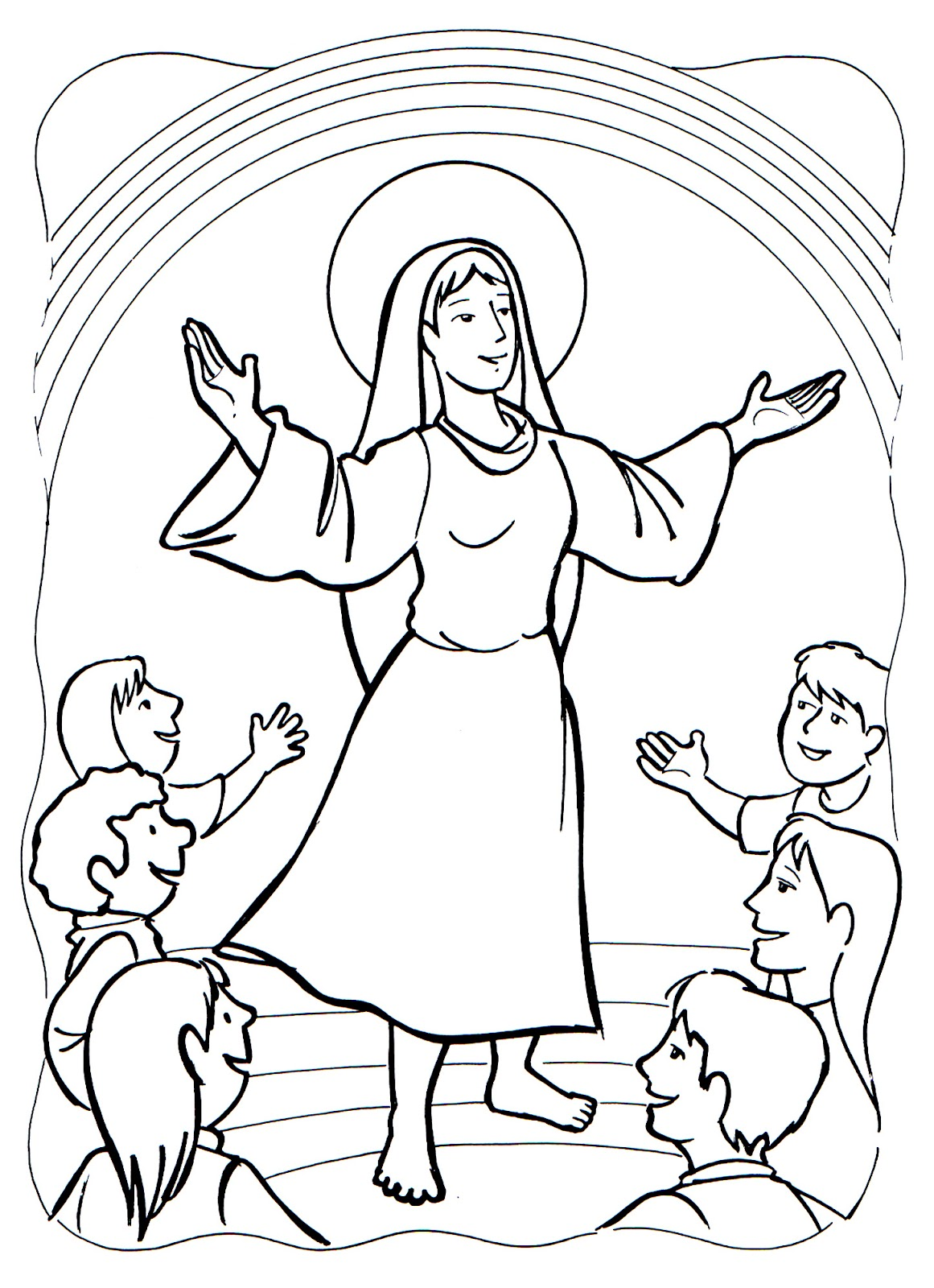 Asumption and Coronation of Mary Coloring Pages