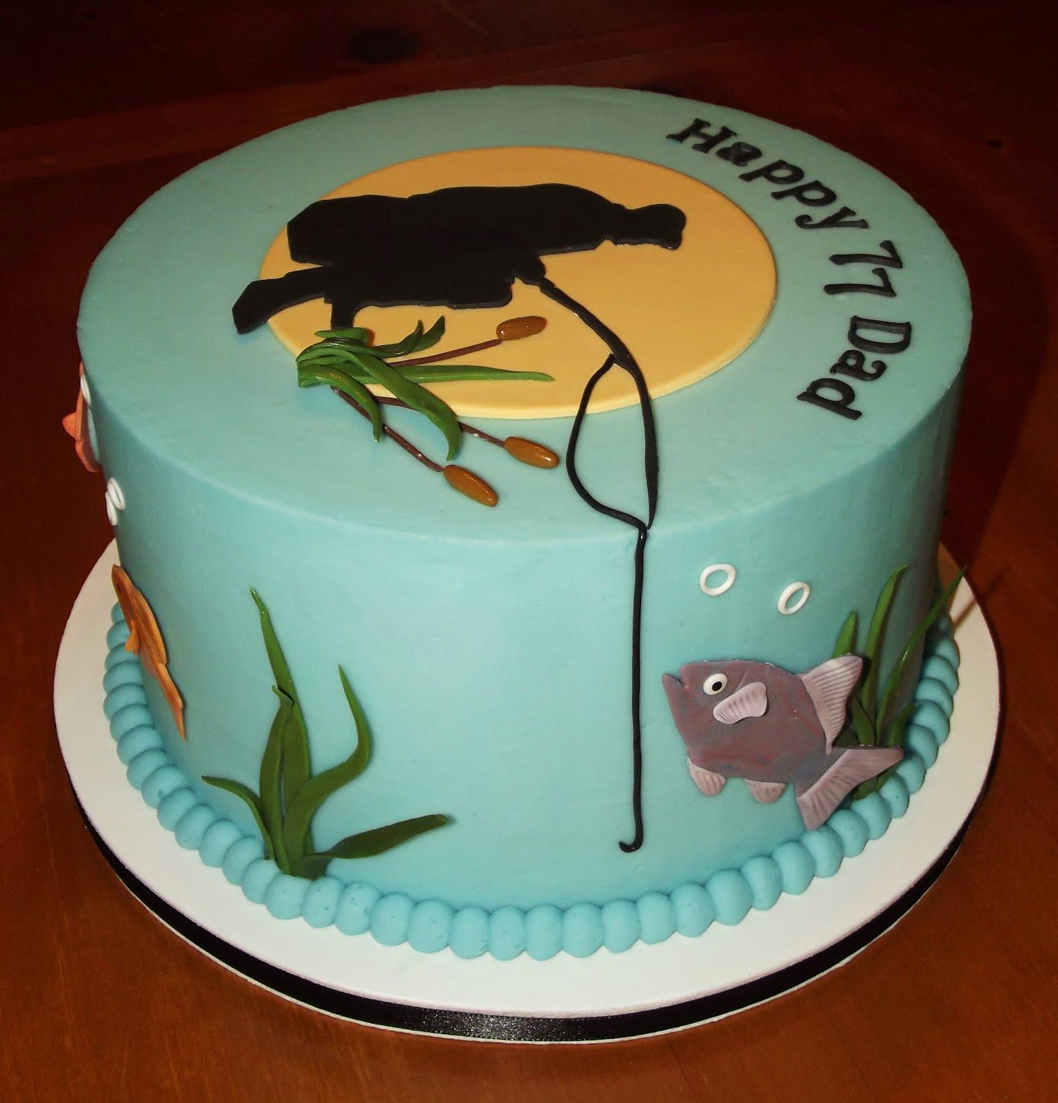 Suzy 39 s sweet shoppe fishing birthday cake for Fishing birthday cake