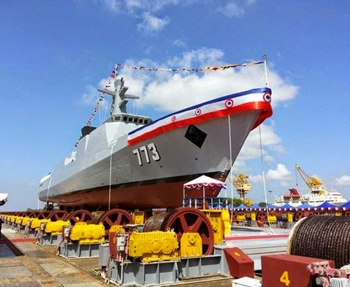 Myanmar Navy Launches Stealth Corvette 773
