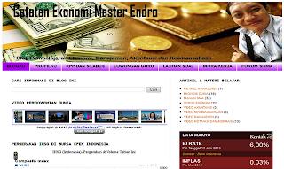 Catatan Ekonomi Master Endro