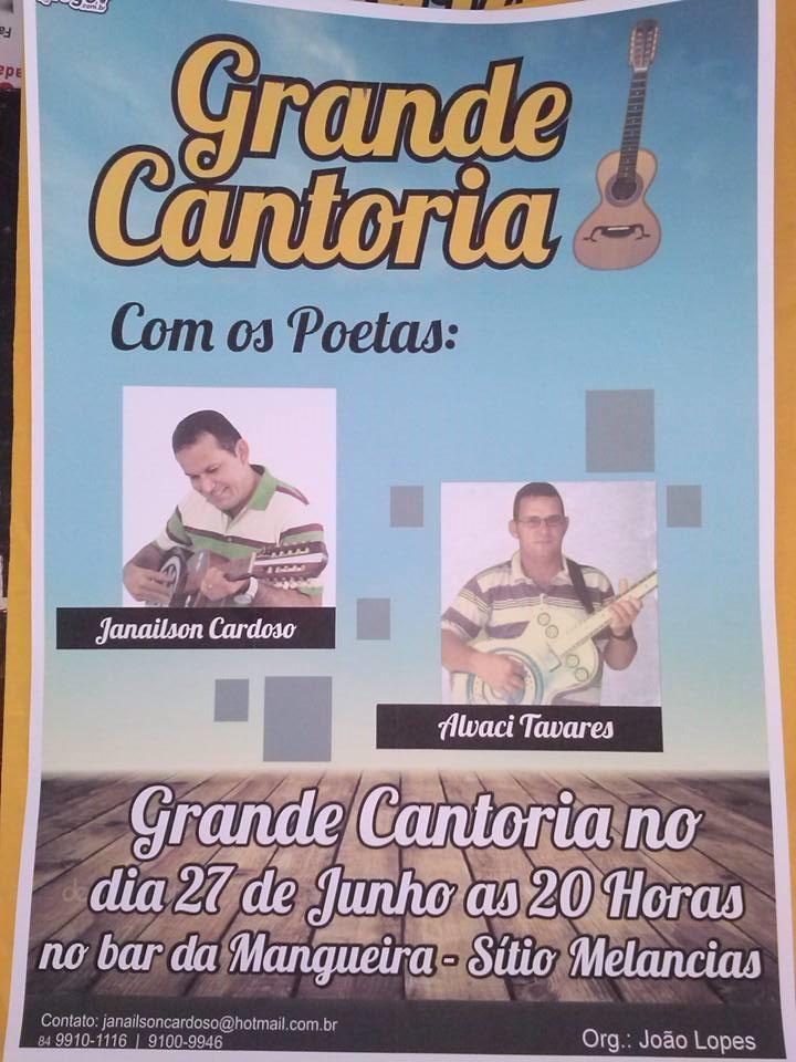 CONVITE DE CANTORIA!!!