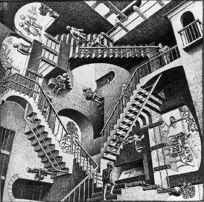 Ilusión Óptica escaleras