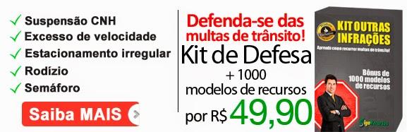 Defenda-se das Multas de Transito 1000 modelos recursos de mutas