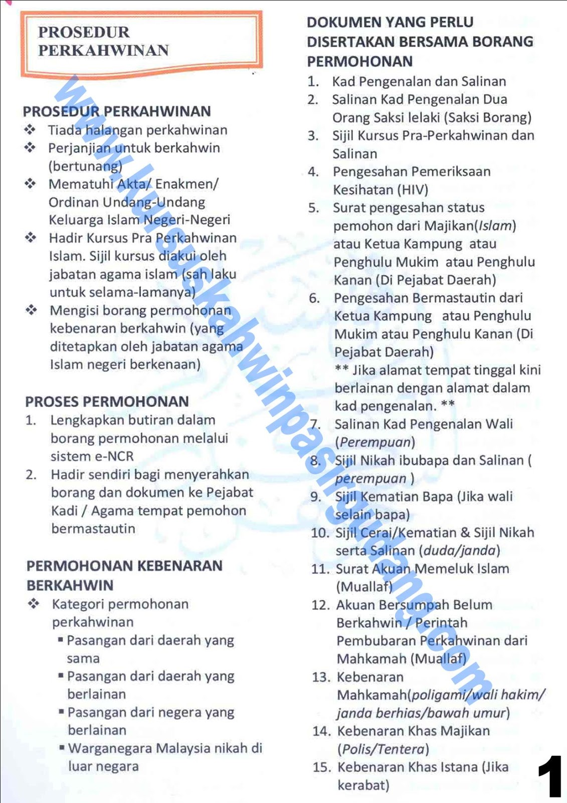 Kursus Kahwin Ulu Tiram Johor Prosedur Perkahwinan