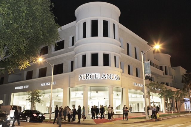george clooney cindy crawford and isabel preysler attend the opening of porcelanosa in beverly hills