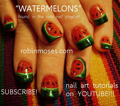 Robin Moses Nail Art February 2015: Robin Moses Nail Art: Fourth Of July Nails, Watermelon