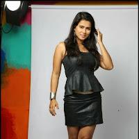 Sharmila mandre latest hot photoshoot gallery in leather dress