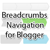 google type breadcrumbs for blogger