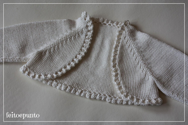 Feitoepunto chaqueta marfil de verano for Remates a ganchillo