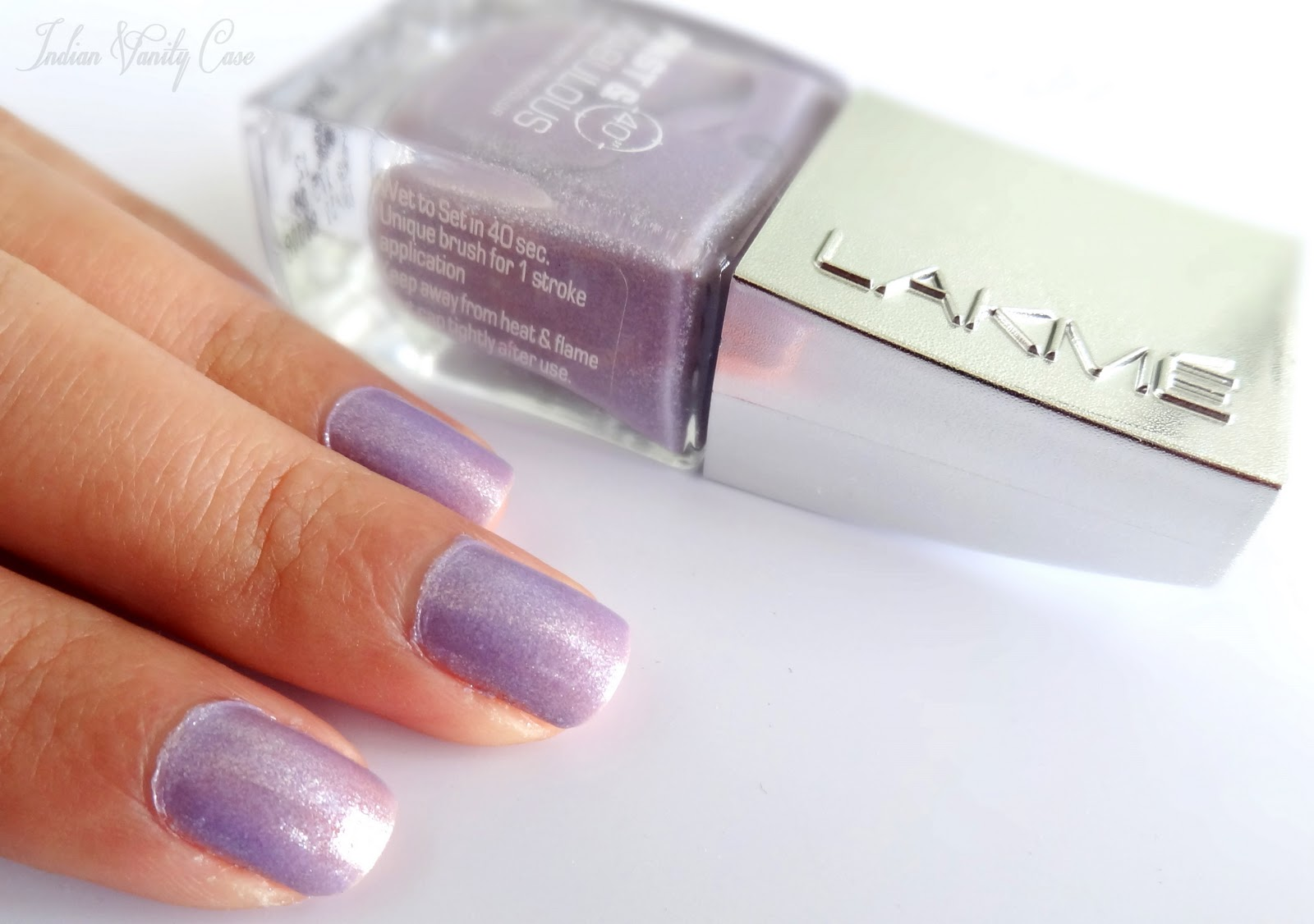 Lakme Absolute Fast Fabulous Nail Color Purple Plunge