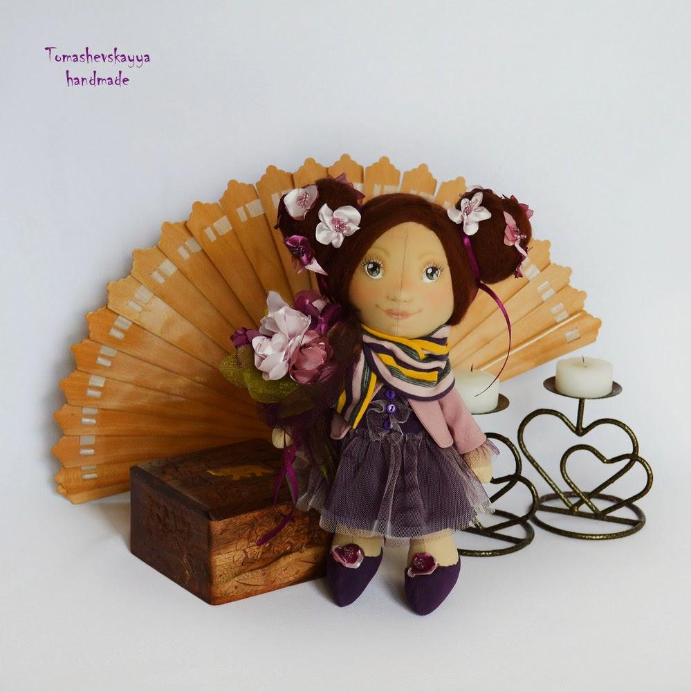 Текстильная кукла. Цветочная фея