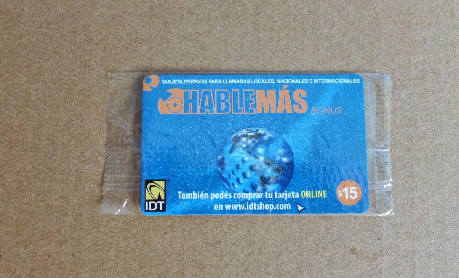 звонить по карточке в Аргентине