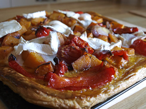 Farmersgirl Kitchen: Roasted Vegetable and Goats Cheese Tart