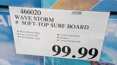 Deal for the Wavestorm 8-Foot Soft Top Surfboard at Costco