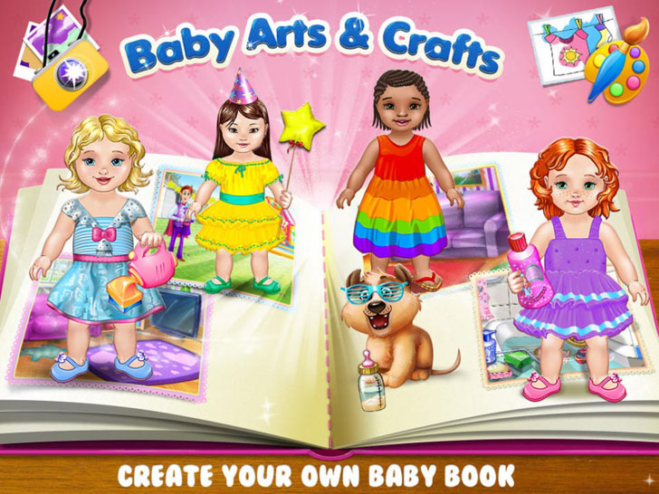 Baby Arts & Crafts - Care, Play, Paint And Create Your Memory Book App iTunes App By Kids Fun Club by TabTale - FreeApps.ws