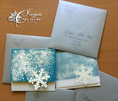 winter wonderland wedding invitations invitatii iarna ca