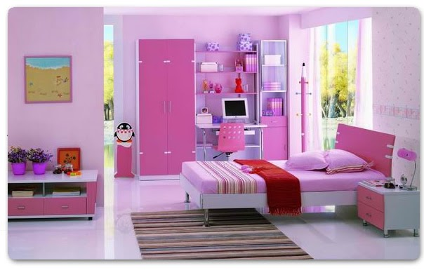 Colores y dise o ordenado y femenino for Decorar mi habitacion juvenil