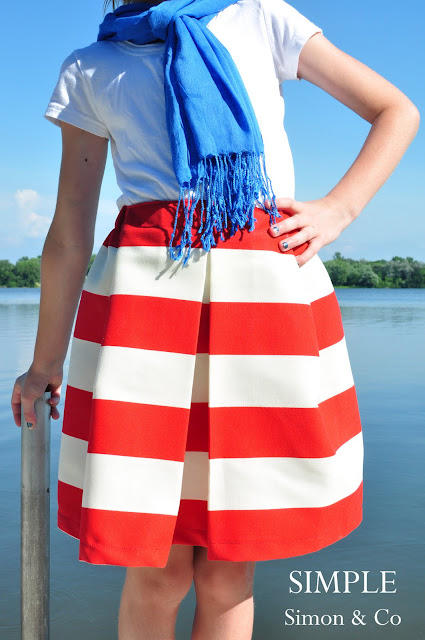 Easy Pleated Skirt Tutorial from Simple Simon and Company